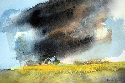 Summer Thunderstorm Painting - Summer Thunderstorm by Glenn Galen