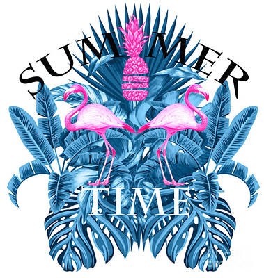 Summer Time Tropical  Print by Mark Ashkenazi