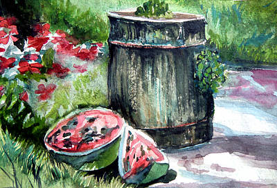 Summer Watercolor Original by Mindy Newman
