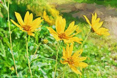 Summer Yellow Wldflowers IIi Print by Debbie Portwood