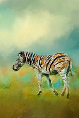 Zebra In Painting - Summer Zebra 2 by Jai Johnson