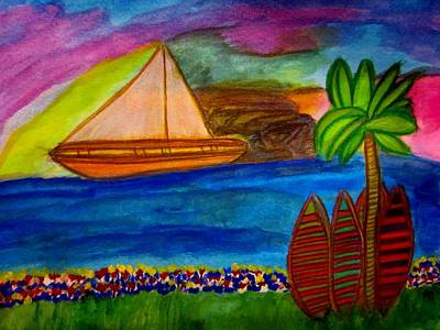 Landscape Painting - Summer's End by Stephanie Zelaya