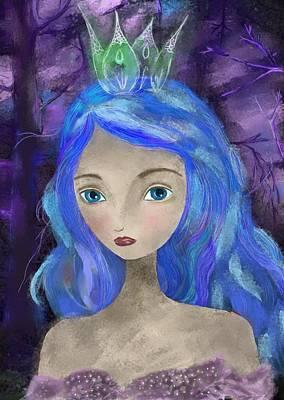 Goddess Digital Art Mixed Media - Summer's End by Yazmin Basa
