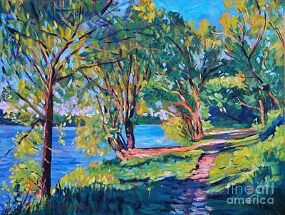 Summer's Lake Print by David Lloyd Glover