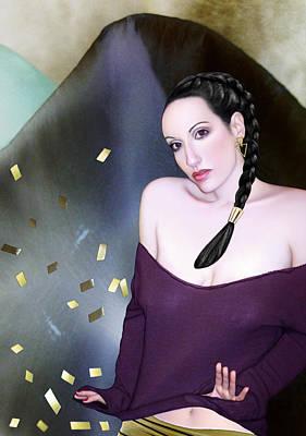 Summoning The Muses - Self Portrait Print by Jaeda DeWalt