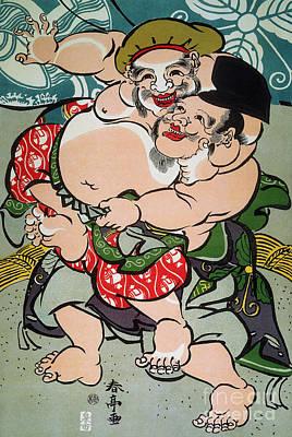 Sumo Photograph - Sumo Wrestling by Granger