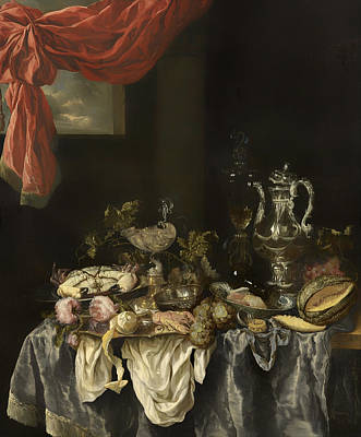 Interior Still Life Painting - Sumptuous Still Life by Mountain Dreams