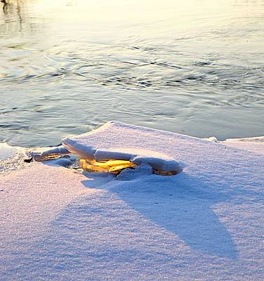 Sun And Ice Print by Robert Pearson