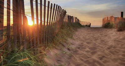 Sand Fences Digital Art - Sun And Sand by Lori Deiter