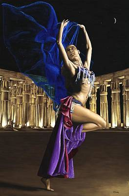 Belly Dancer Painting - Sun Court Dancer by Richard Young