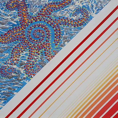 20x20 Painting - Sun Dance  by Alexandra Romano