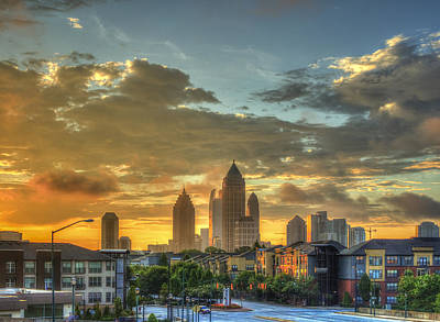 Sun Is Up Midtown Atlanta Atlantic Station Print by Reid Callaway