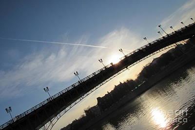 Moscow Skyline Photograph - Sun Layers by Anna Yurasovsky