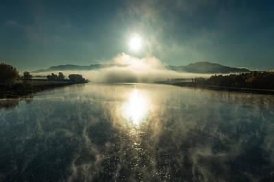 Rural Landscapes Photograph - Sun O'er Missouri River by Todd Klassy