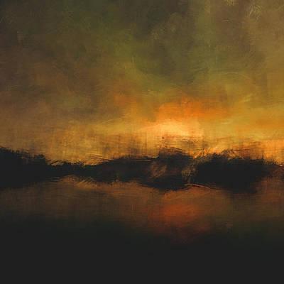 Eternity Digital Art - Sun Over Treeline by Lonnie Christopher