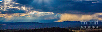 Sun Rays And Rain Print by Dennis Wagner