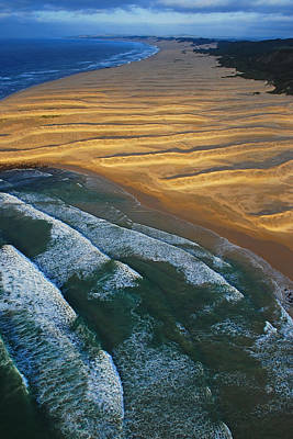 Aerial Photograph - Sun Rise Coast  by Skip Hunt