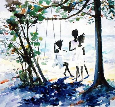 Swing Painting - Sun Sea And Shade by Patty  Frierson