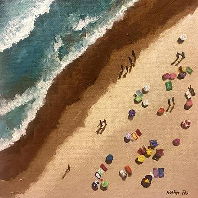 Pai Painting - Sun-soaked Beach Weekend by Esther Pai