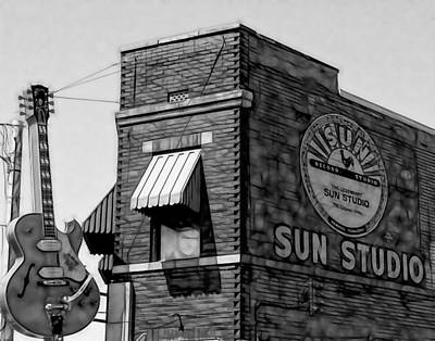 Memphis Mixed Media - Sun Studio Collection by Marvin Blaine