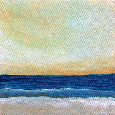 Surf Decor Mixed Media - Sun Swept Coast- Abstract Seascape by Linda Woods