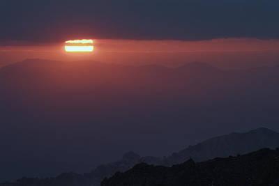 Sun Through The Mountains Print by Guido Montanes Castillo