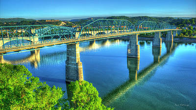Sun Up Reflections Chattanooga Tennessee Print by Reid Callaway