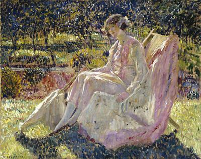 Frederick Carl Frieseke Painting - Sunbath by Frederick Carl Frieseke