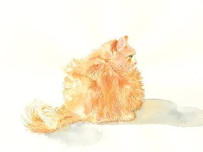 Sundance Painting - Sundance The Cat 2 by Yvonne Carter