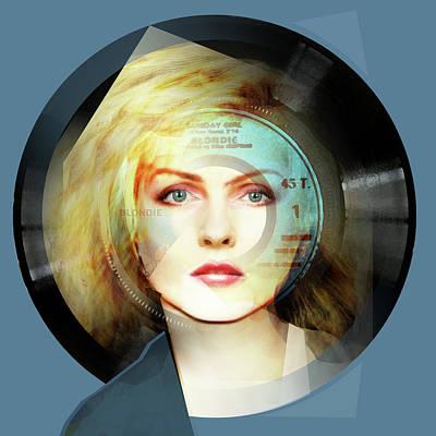 Blondie Digital Art - Sunday Girl - Debbie Harry Portrait by Big Fat Arts