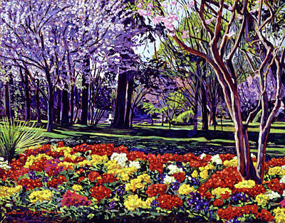 Sunday In The Park Print by David Lloyd Glover