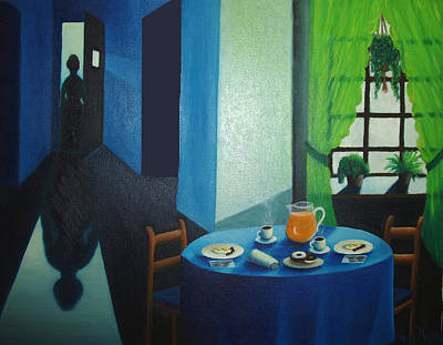 Meal Painting - Sunday Morning Breakfast by Nancy Mueller