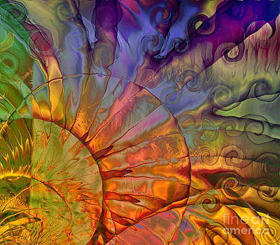 Colorful Abstract Painting - Sundial by Mindy Sommers