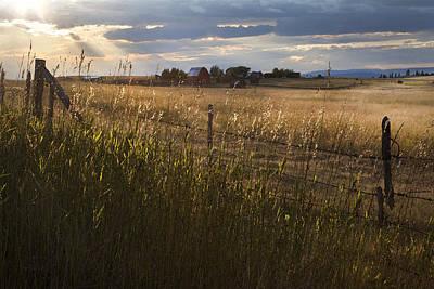 Barn Photograph - Sundown Ranch by Theresa Tahara
