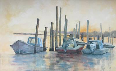Sundown Stillness Print by Susan Richardson