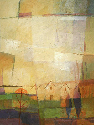 Location Painting - Sundown Village by Lutz Baar
