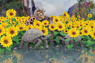 Sunflower Daydream  Print by Betsy Knapp