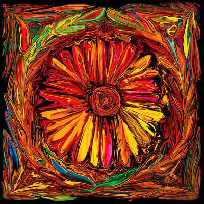 Sunflower Emblem Print by Rabi Khan