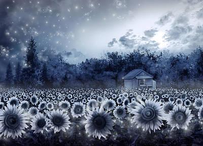 Digital Sunflower Digital Art - Sunflower Field  by Bekim Art