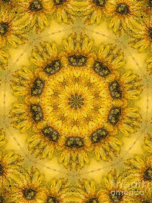 Canary Mixed Media - Sunflower Mandala by Sandra Gallegos
