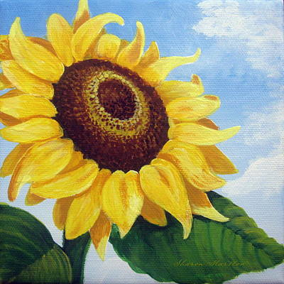 Sunflower Moment Print by Sharon Marcella Marston