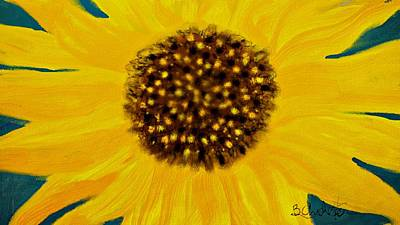 Sunflower Painting Print by Barbara Chichester