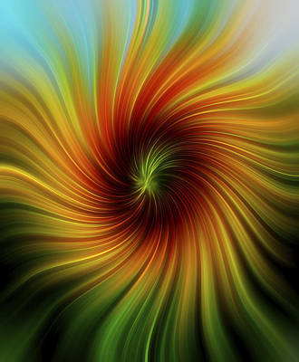 Blooming Digital Art - Sunflower Swirl by Terry DeLuco