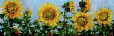 Contemplative Painting - Sunflowers 2 by Douglas AmEnde