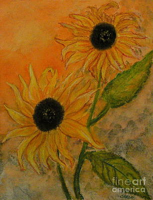 Sunflowers Print by Carla Stein