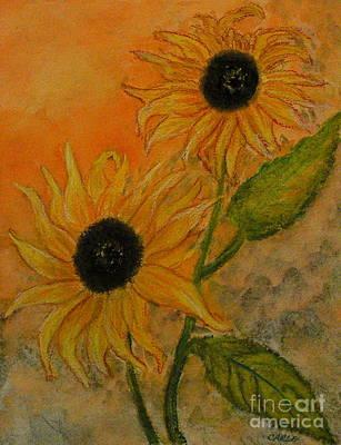 Stein Mixed Media - Sunflowers by Carla Stein