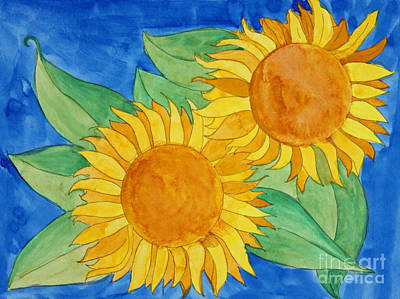 Sunflowers Print by Norma Appleton