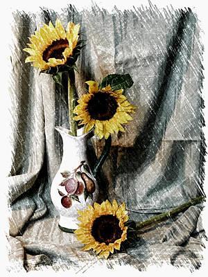 Sunflowers Print by Pat Exum
