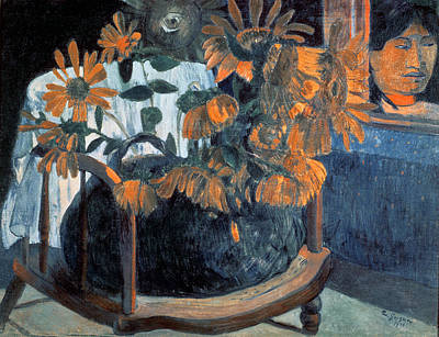 Sunflower Painting - Sunflowers by Paul Gauguin