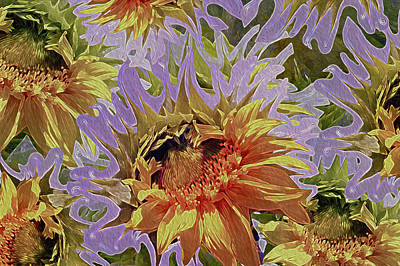 Sunflowers Rising 34 Print by Lynda Lehmann